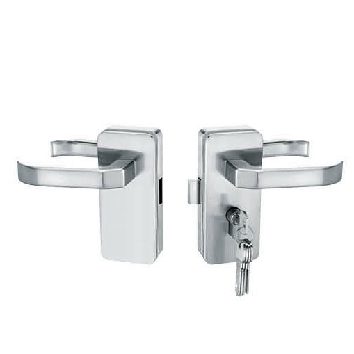 Glass Door Locks LC-034, Stainless steel